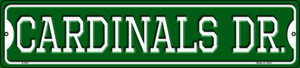 Cardinals Dr Wholesale Novelty Small Metal Street Sign K-950
