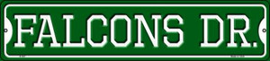 Falcons Dr Wholesale Novelty Small Metal Street Sign K-957