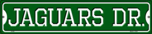 Jaguars Dr Wholesale Novelty Small Metal Street Sign K-959