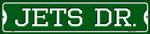 Jets Dr Wholesale Novelty Small Metal Street Sign K-960