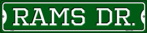 Rams Dr Wholesale Novelty Small Metal Street Sign K-966