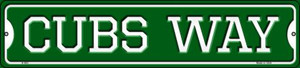 Cubs Way Wholesale Novelty Small Metal Street Sign K-983