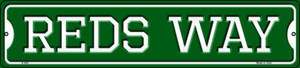 Reds Way Wholesale Novelty Small Metal Street Sign K-999