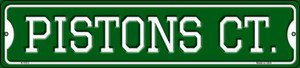 Pistons Ct Wholesale Novelty Small Metal Street Sign K-1013
