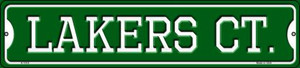 Lakers Ct Wholesale Novelty Small Metal Street Sign K-1018