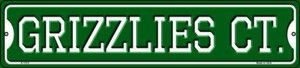 Grizzlies Ct Wholesale Novelty Small Metal Street Sign K-1019