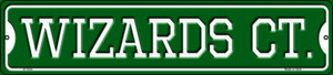 Wizards Ct Wholesale Novelty Small Metal Street Sign K-1035