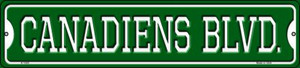 Canadiens Blvd Wholesale Novelty Small Metal Street Sign K-1040