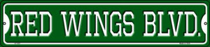 Red Wings Blvd Wholesale Novelty Small Metal Street Sign K-1057