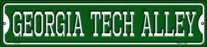 Georgia Tech Alley Wholesale Novelty Small Metal Street Sign K-1074