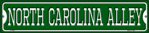 North Carolina Alley Wholesale Novelty Small Metal Street Sign K-1096