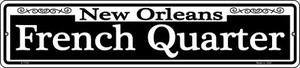New Orleans French Quarter Wholesale Novelty Small Metal Street Sign K-1105