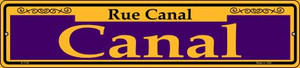 Canal Purple Wholesale Novelty Small Metal Street Sign K-1145