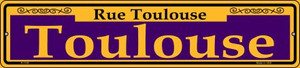 Toulouse Purple Wholesale Novelty Small Metal Street Sign K-1146