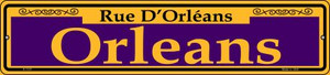 Orleans Purple Wholesale Novelty Small Metal Street Sign K-1147