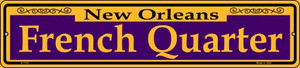 French Quarter Purple Wholesale Novelty Small Metal Street Sign K-1163