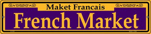 French Market Purple Wholesale Novelty Small Metal Street Sign K-1167