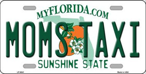 Moms Taxi Florida Novelty Wholesale Metal License Plate LP-6041