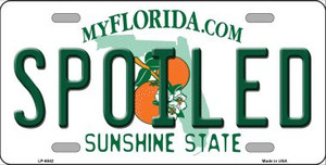 Spoiled Florida Novelty Wholesale Metal License Plate LP-6042