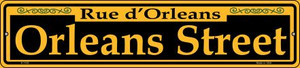 Orleans Street Yellow Wholesale Novelty Small Metal Street Sign K-1193