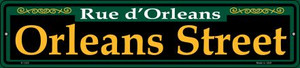 Orleans Street Green Wholesale Novelty Small Metal Street Sign K-1222