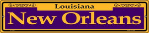 New Orleans Purple Wholesale Novelty Small Metal Street Sign K-1229
