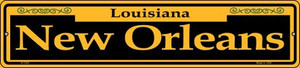 New Orleans Yellow Wholesale Novelty Small Metal Street Sign K-1230
