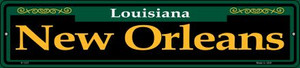 New Orleans Green Wholesale Novelty Small Metal Street Sign K-1231