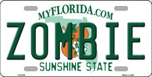 Zombie Florida Novelty Wholesale Metal License Plate LP-6746