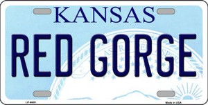 Red Gorge Kansas Novelty Wholesale Metal License Plate LP-6609