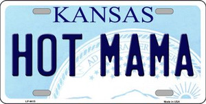 Hot Mama Kansas Novelty Wholesale Metal License Plate LP-6615