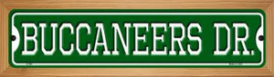 Buccaneers Dr Wholesale Novelty Wood Mounted Small Metal Street Sign WB-K-949