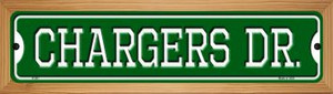 Chargers Dr Wholesale Novelty Wood Mounted Small Metal Street Sign WB-K-951
