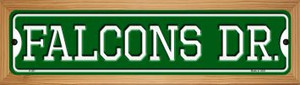 Falcons Dr Wholesale Novelty Wood Mounted Small Metal Street Sign WB-K-957