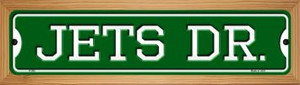 Jets Dr Wholesale Novelty Wood Mounted Small Metal Street Sign WB-K-960