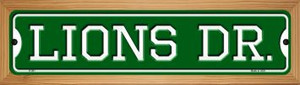Lions Dr Wholesale Novelty Wood Mounted Small Metal Street Sign WB-K-961