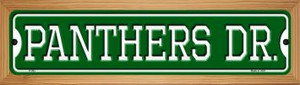Panthers Dr Wholesale Novelty Wood Mounted Small Metal Street Sign WB-K-963