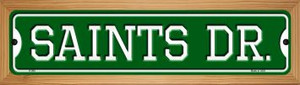 Saints Dr Wholesale Novelty Wood Mounted Small Metal Street Sign WB-K-969