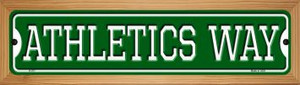 Athletics Way Wholesale Novelty Wood Mounted Small Metal Street Sign WB-K-977