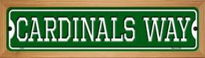 Cardinals Way Wholesale Novelty Wood Mounted Small Metal Street Sign WB-K-982