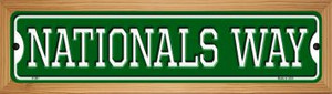 Nationals Way Wholesale Novelty Wood Mounted Small Metal Street Sign WB-K-991