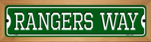 Rangers Way Wholesale Novelty Wood Mounted Small Metal Street Sign WB-K-996