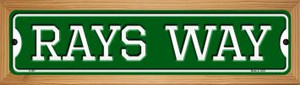 Rays Way Wholesale Novelty Wood Mounted Small Metal Street Sign WB-K-997