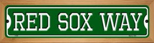 Red Sox Way Wholesale Novelty Wood Mounted Small Metal Street Sign WB-K-998