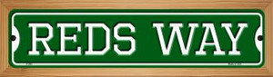Reds Way Wholesale Novelty Wood Mounted Small Metal Street Sign WB-K-999