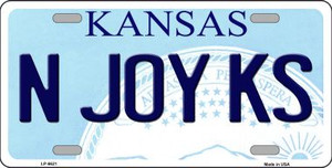 N Joy Kansas Novelty Wholesale Metal License Plate LP-6621