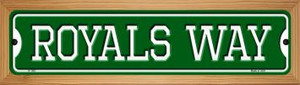 Royals Way Wholesale Novelty Wood Mounted Small Metal Street Sign WB-K-1001