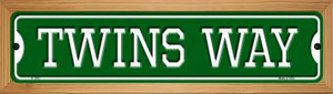 Twins Way Wholesale Novelty Wood Mounted Small Metal Street Sign WB-K-1003