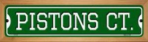Pistons Ct Wholesale Novelty Wood Mounted Small Metal Street Sign WB-K-1013
