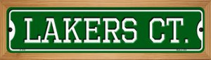 Lakers Ct Wholesale Novelty Wood Mounted Small Metal Street Sign WB-K-1018